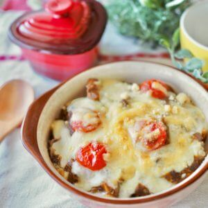 「さば水煮」で、鯖カレードリア。