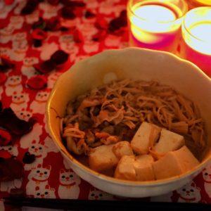 「プラス糀 糀甘酒生姜ブレンド」で、肉豆腐。