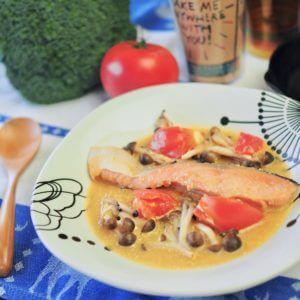 「バーニャカウダ トリュフ入り」で、鮭ちゃんちゃん焼き。