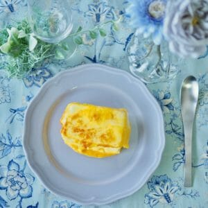 「カップスープの素(コーンクリーム)」で、豆腐ステーキ。