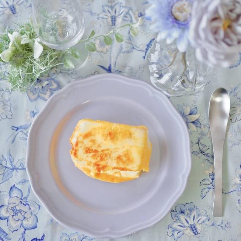 「カップスープ つぶたっぷりコーンクリーム」で、豆腐ステーキ。